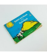 Rabbit and Skunk and the Scary Rock 1965 Childrens Vintage Book Carla St... - $27.99