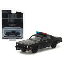 1976 Dodge Coronet Black Bandit Police 1/64 Diecast Model Car by Greenli... - $13.15