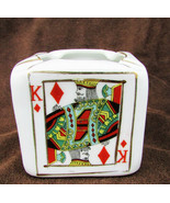 Card dice cube cigarette ash tray vintage Japan Lipper & Mann porcelain - $8.95