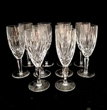 10 Waterford Ireland Cut Glass Crystal Kildare Champagne Glasses Flutes ... - $448.80