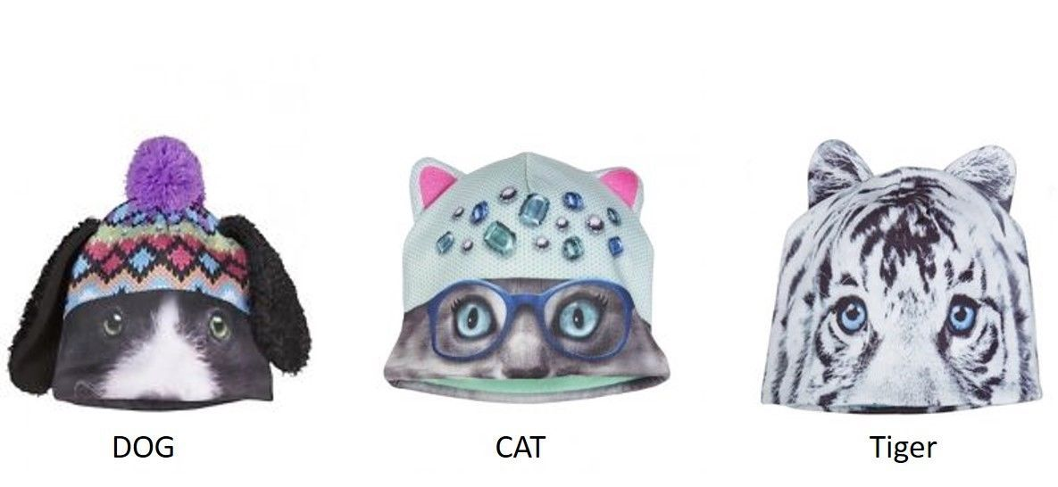 a847e7732bf Justice Girls Critter Hats Cat