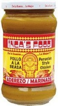 Inca's Food Aderezo / Marinade for Peruvian Style Chicken 10.5oz 4 Pack