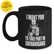 St Patrick's Day Irish Shenanigans Ceramic Coffee Cup Mug Tea Cup Gift  - £8.73 GBP+