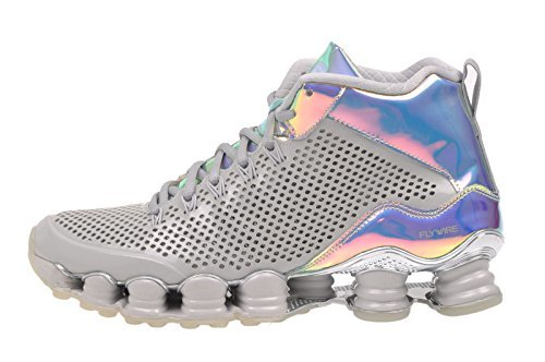 Primary image for Nike Men's Shox TLX MID SP, Dynasty Grey/Reflect Silver-Pink Oxford, 9.5 M US