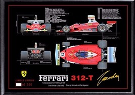 Niki Lauda photo pic signed Autograph print FRAMED Ferrari Formula 1 - $19.27