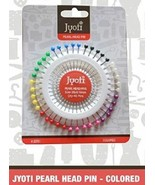 Jyoti Pearlized Ball Head 400 Straight Pins MULTI COLOUR Sewing Crafting... - $7.13