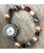 Jennie B Women's Novelty Beaded Bracelet Quartz Watch with Fresh Battery - $9.90