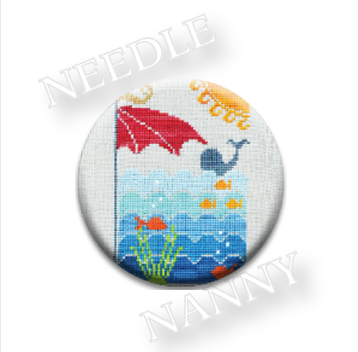 At The Beach Needle Nanny needle minder cross stitch Hands On Design