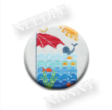 At The Beach Needle Nanny needle minder cross stitch Hands On Design - $12.00