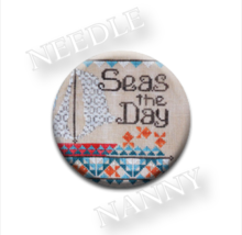 Seas The Day Needle Nanny needle minder cross stitch Hands On Design - $12.00