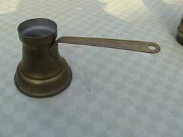 Brass Kettle Coffee Pot Ladle Long Handle Brass Pour Spout Signed        - $9.90