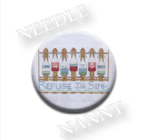 Primary image for Refuse To Sink Needle Nanny needle minder cross stitch Hands On Design