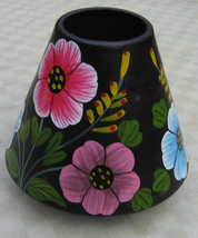 Lamp Shade Tole Candle Shade Small Dome Flowers Floral     - €9,16 EUR
