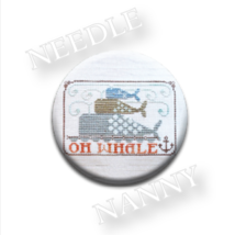 Oh Whale Needle Nanny needle minder cross stitch Hands On Design - $12.00