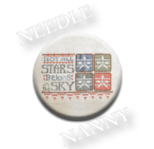 Not All Stars Needle Nanny needle minder cross stitch Hands On Design - $12.00