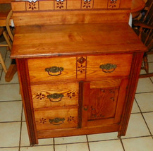 Late 1800's Chestnut Washstand / Cabinet - $599.00