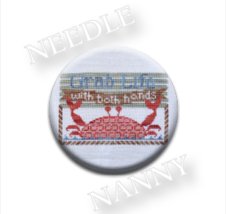 Grab Life Needle Nanny needle minder cross stitch Hands On Design - $12.00