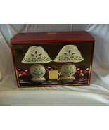Lenox For The Holidays Mini Candle Set Of 2 China Holly In Box Never Use... - $74.25