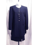 Chaus Vintage Navy Blue Fully Lined 100% Wool C... - $39.99