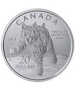 $20 Fine Silver Coin - Bobcat (2014) - $32.00