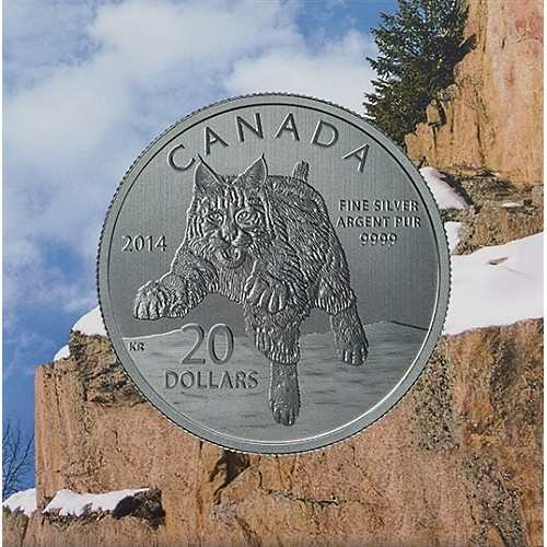 $20 Fine Silver Coin - Bobcat (2014)