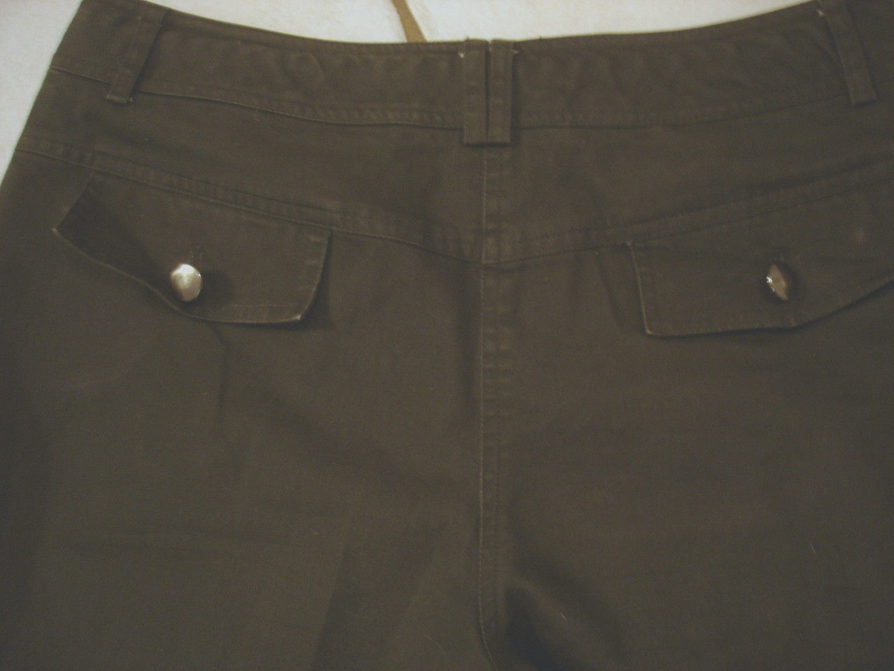 WILLI SMITH BROWN STRETCH COTTON BOOTCUT PANTS  SIZE 6