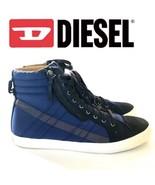 DIESEL D String Blue High Top Sneakers   10607 - $52.25