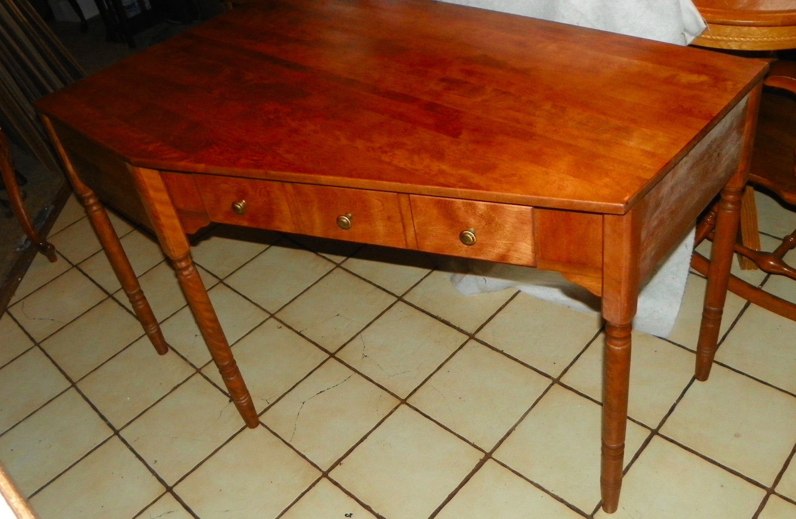 Remarkable Maple Ethan Allen Mid Century Corner Desk And 50 Similar Items Gmtry Best Dining Table And Chair Ideas Images Gmtryco