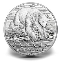 $50 Fine Silver Coin - Polar Bear (2014) - $70.00