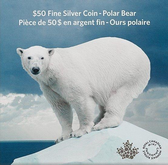 $50 Fine Silver Coin - Polar Bear (2014)