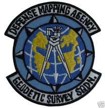 """DEFENSE MAPPING AGENCY GEODETIC SURVEY SQUAD 4"""" Patch - $21.99"""