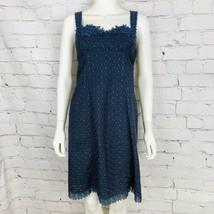 Cynthia Steffe Women's Dress 2 Blue Lace Embroidered Eyelet Sleeveless - $22.44