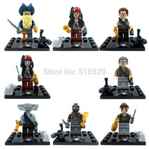 8pcs Pirates Of The Caribbean Jack Sparrow minifigures building toys lego - $13.99