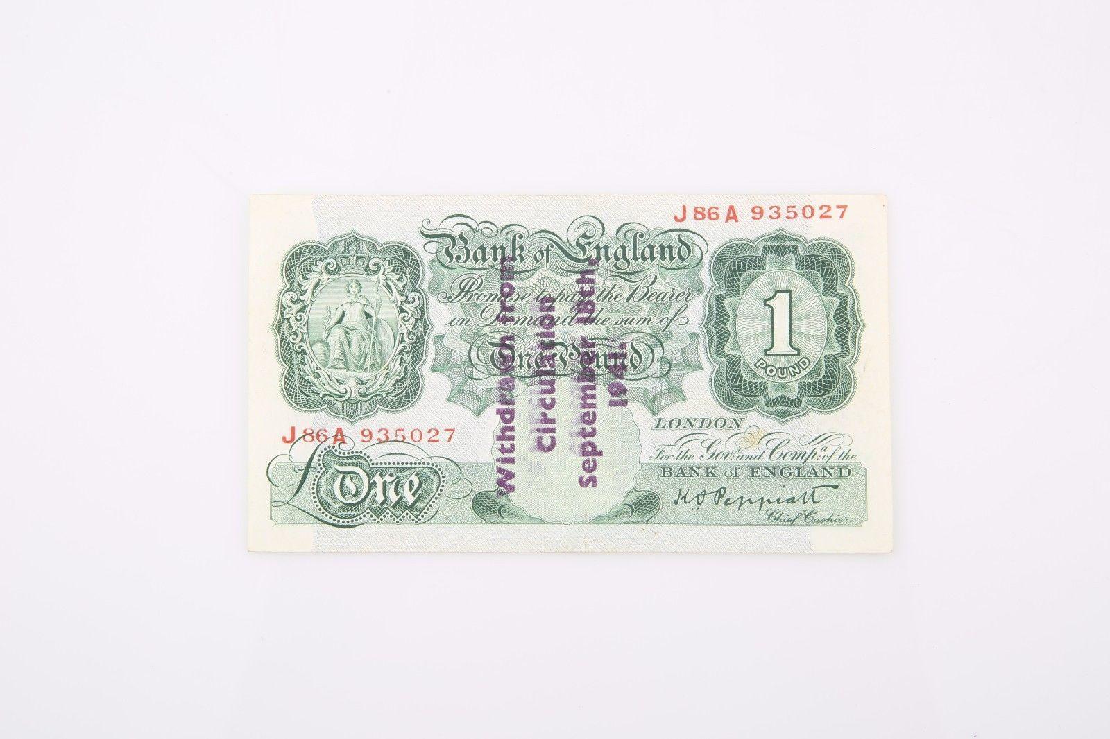 1934-1939 ND Gran Bretaña Libra xf-40 PMG Banco de Inglaterra EXTRAORDINARIA image 3