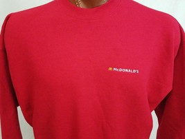 McDonald's Golden Arches Red Embroidered Sweatshirt Cotton Blend XL X-Large - $35.18