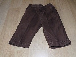 Infant Size 3-6 Months George Solid Dark Brown Corduroy Dress Pants EUC - $9.00