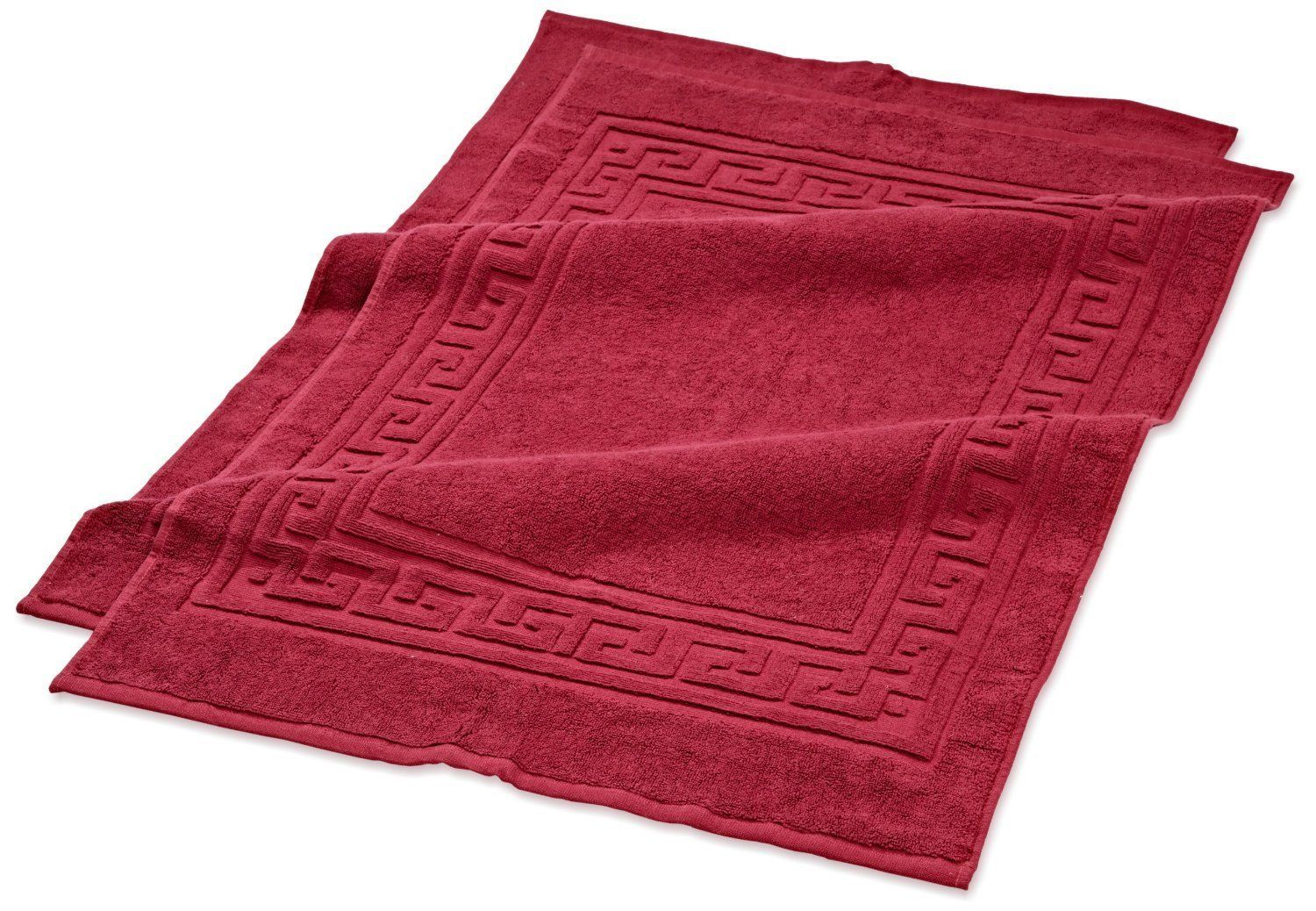 Egyptian Cotton Superior 2 Piece Bath Mat Bath Rug Set Burgundy Sheets Pillowcases