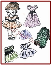 """Vintage Pattern for 9"""" Cloth Doll with Wardrobe no. 3 - $5.99"""