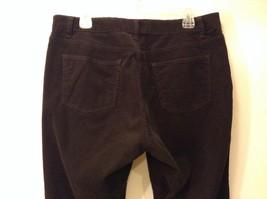 Ladies Talbots Curvy Dark Chocolate Brown Corduroy Pants Jeans Sz 14P image 4