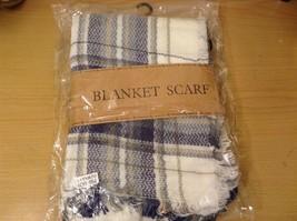 NEW Plaid Navy Blue Gray White Beige Blanket Scarf Wrap image 6