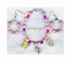 Easter Glass Mix Spring Bracelet Earring Set  - $17.99