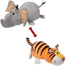 Flipa Zoo Pillow Huggable Character Wonderful 2 Collectibles Elephant Tiger - $50.31