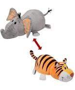 Flipa Zoo Pillow Huggable Character Wonderful 2 Collectibles Elephant Tiger - $50.31
