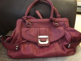GUESS Shopper Shoulder Wekeend Bag Handbag Dark Red - $46.30