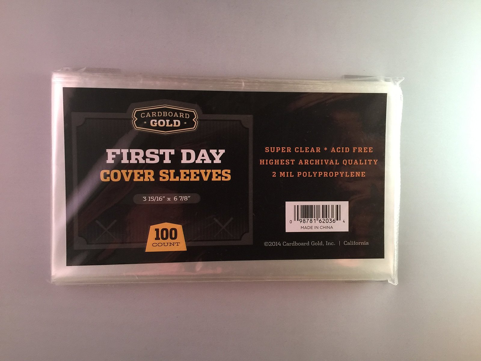 100 CBG First Day Cover Sleeves - Archival Quality Protection for Your first day