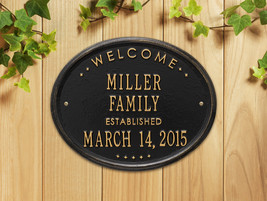 """Welcome Oval """"Family"""" Established Personalized ... - $69.95"""