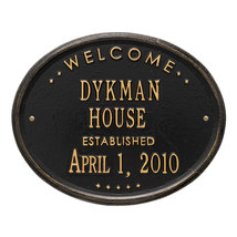 """Welcome Oval """"House"""" Established Personalized P... - $69.95"""