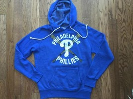New Mens Majestic Threads Philadelphia Phillies Tri Blend Pull Over Hoodie - $64.39