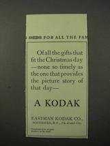 1913 Kodak Photography Ad - Gifts Christmas Day - $14.99
