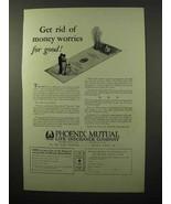 1927 Phoenix Mutual Life Insurance Ad - Money Worries - $14.99